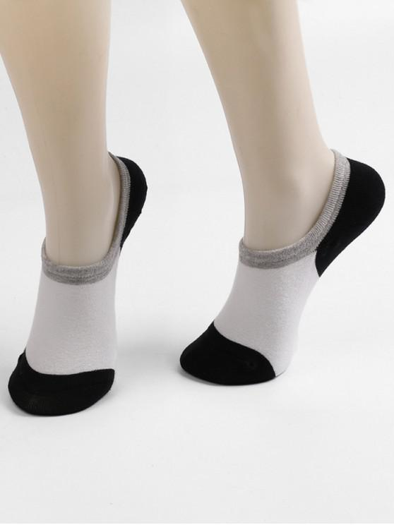 latest Non-slip Cotton No Show Socks - MULTI-B