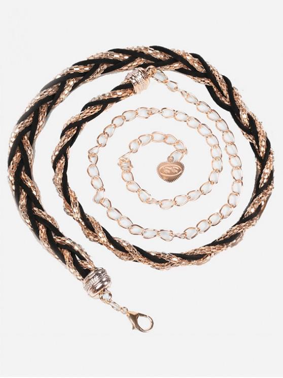 shops Vintage Alloy Skinny Dress Belt - GOLD