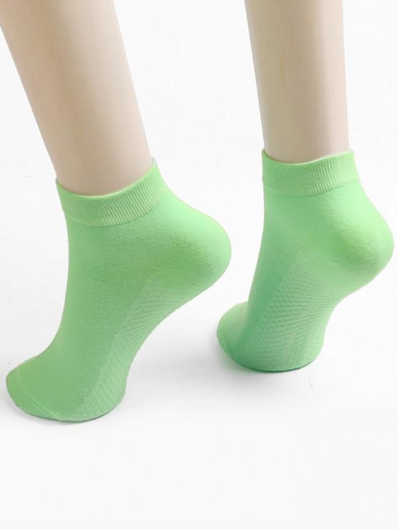 latest Solid Color Ankle Socks - ALGAE GREEN