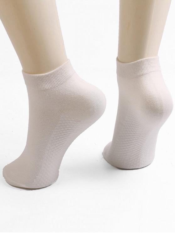 Chaussettes à Cheville en Couleur Unie - Blanc Chaud