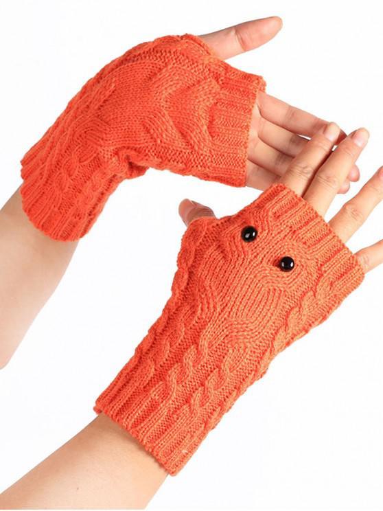 new Cartoon Owl Fingerless Gloves - TANGERINE