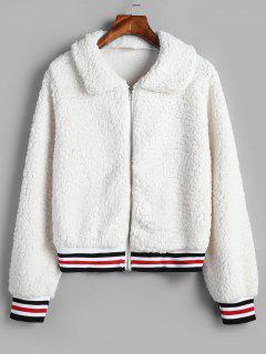 Fluffy Short Faux Fur Winter Coat - White Xl
