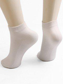 Solid Color Ankle Socks - Warm White