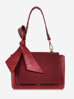 Bowkont Cover Design Crossbody Bag - Red Wine
