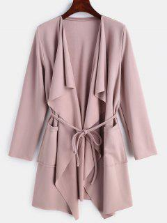 Brushed Jersey Waterfall Duster Coat - Lipstick Pink S