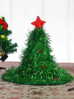 Christmas Tree Party Decoration Hat With Light - Jungle Green