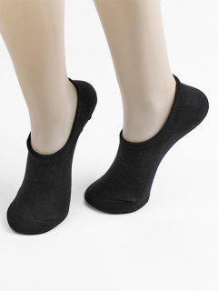 Non-slip Cotton No Show Socks - Black