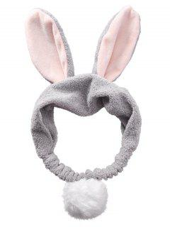 Fluffy Rabbit Ears Pattern Cosmetic Hair Band - Gray