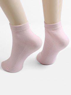 Solid Color Ankle Socks - Pink