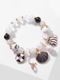 Bracelet De Perles En Forme De Poisson En Cristal - Noir
