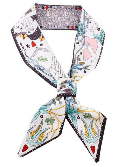 outfits Stylish Heart Star Silky Scarf - MULTI  Mobile