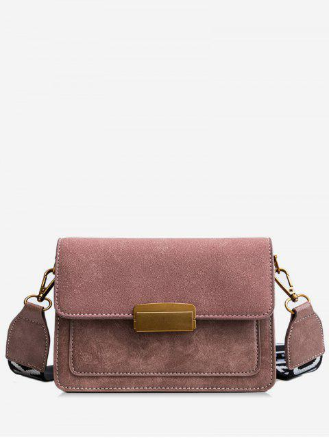 shop Scrub Leather Cover Design Crossbody Bag - ORANGE PINK  Mobile