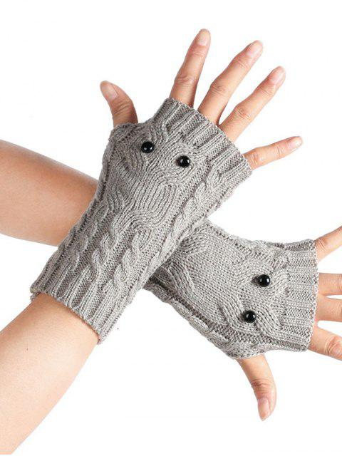 outfit Cartoon Owl Fingerless Gloves - LIGHT GRAY  Mobile