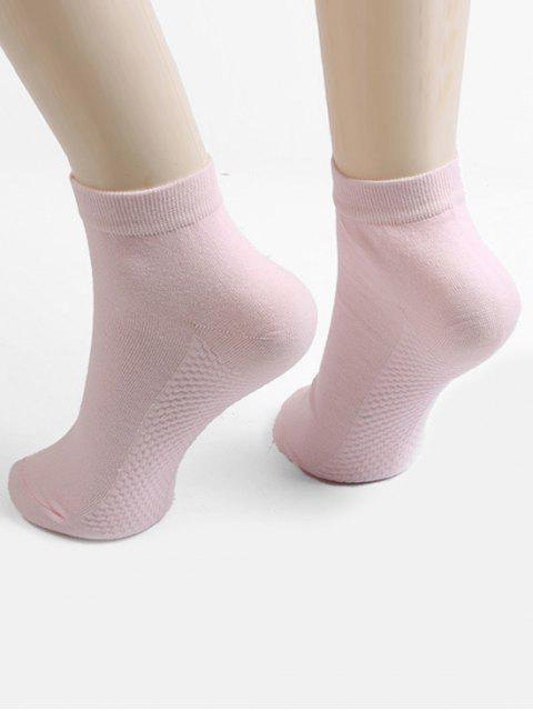 outfits Solid Color Ankle Socks - PINK  Mobile