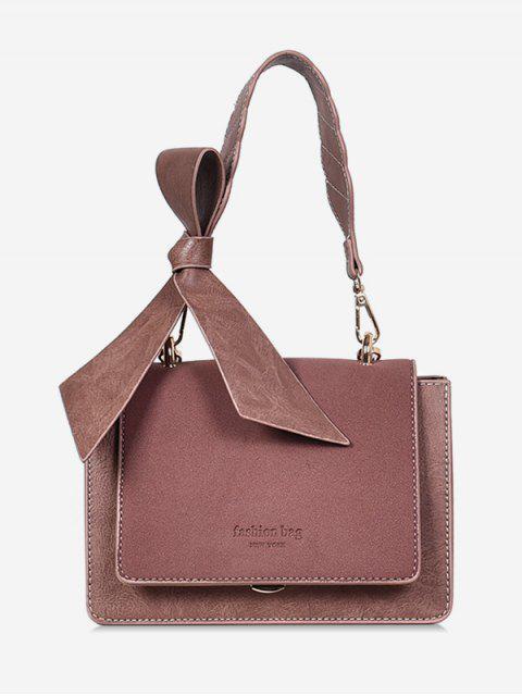 fancy Bowkont Cover Design Crossbody Bag - ORANGE PINK  Mobile