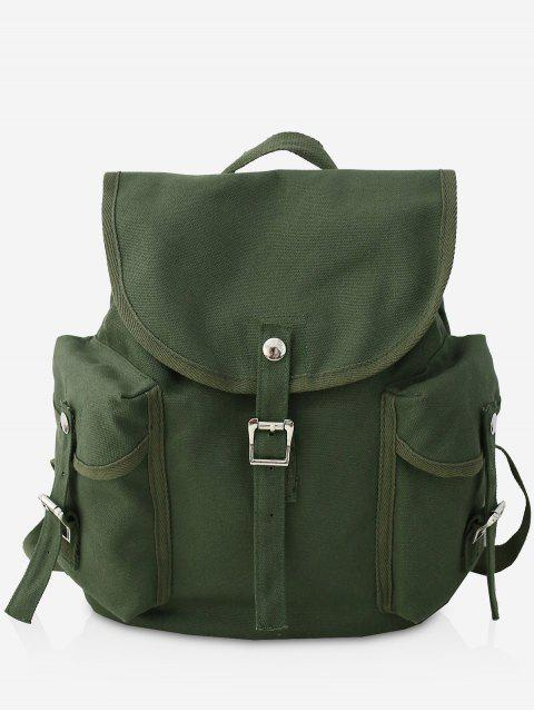 online Canvas Design Large Capacity School Backpack - DARK GREEN  Mobile