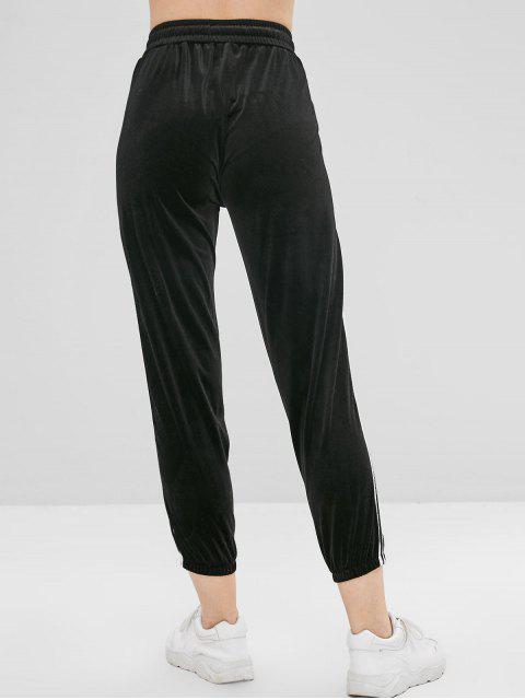 Joggers de terciopelo pantalones - Negro M Mobile