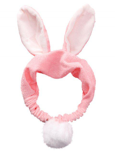 ladies Fluffy Rabbit Ears Pattern Cosmetic Hair Band - PINK  Mobile