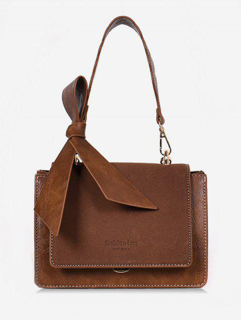 trendy Bowkont Cover Design Crossbody Bag - BROWN  Mobile