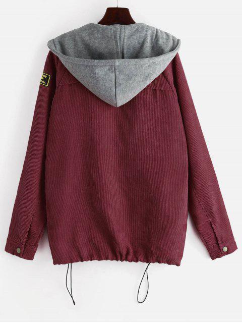 best ZAFUL Fleece Vest and Corduroy Jacket Twinset - FIREBRICK S Mobile