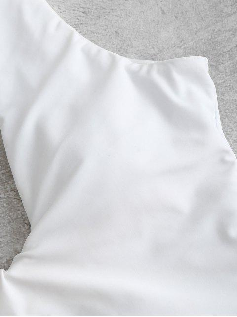 ZAFUL Maillot de Bain Plongeant Imprimé Une-Pièce - Blanc L Mobile