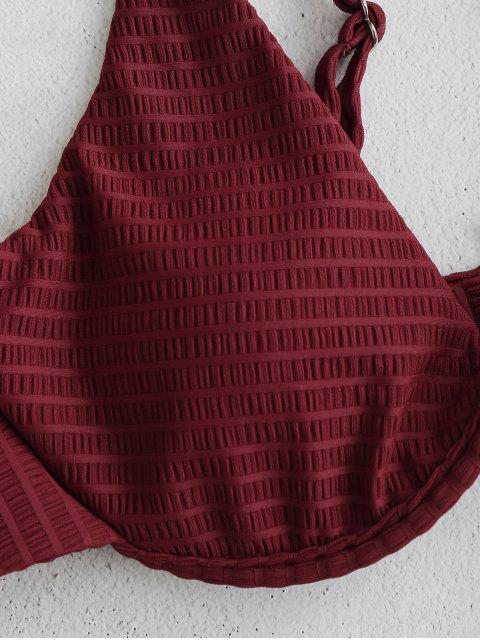 ZAFUL Ensemble de Bikini Texturé à Armature - Rouge Vineux S Mobile
