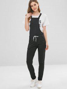 جيوب جانبية وزرة الرباط وزرة - أسود L