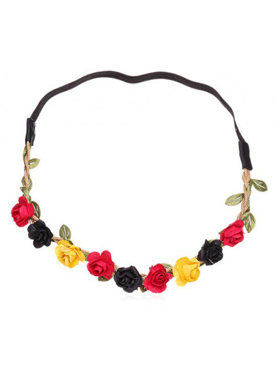 chic Floral Decor Festival Party Hair Band - MULTI