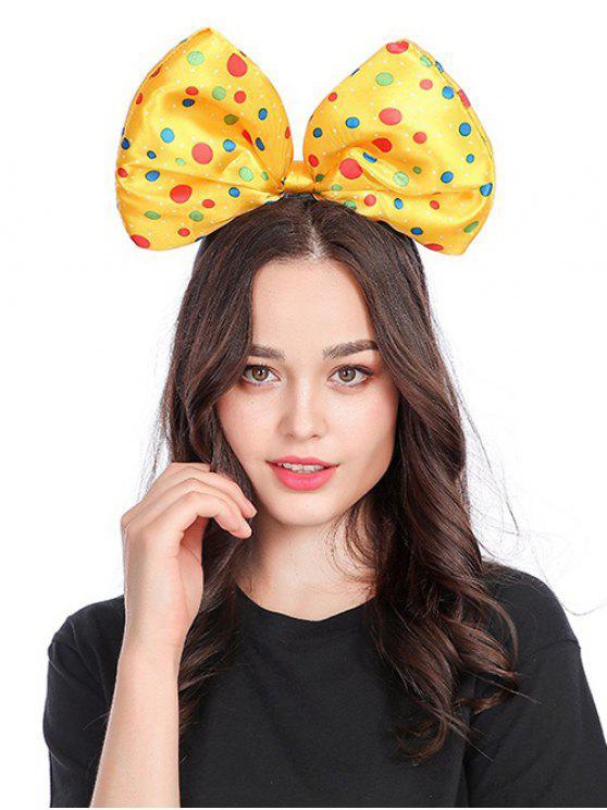 sale Polka Dot Bow Shape Hair Accessories - YELLOW