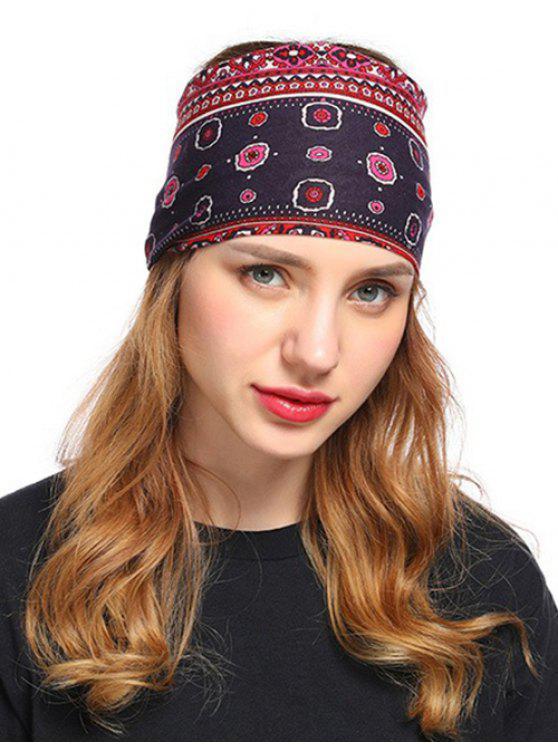 outfits Bohemian Floral Decorative Headband - MULTI