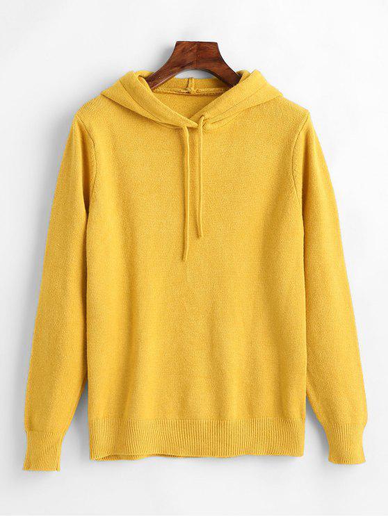Camisola Com Capuz Básica - Milho Amarelo Um Tamanho