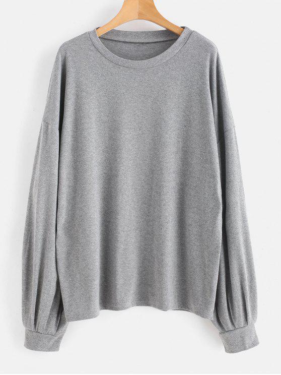 new Marled Oversized Sweatshirt - GRAY S