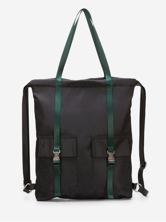 online Large Capacity String Design Student Backpack - MEDIUM AQUAMARINE