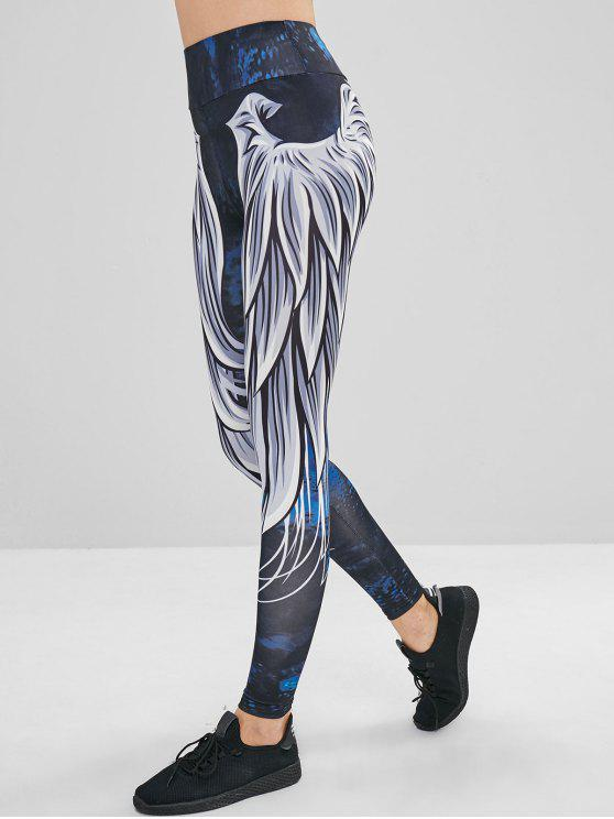 women High Waisted Ninth Printed Leggings - MULTI M