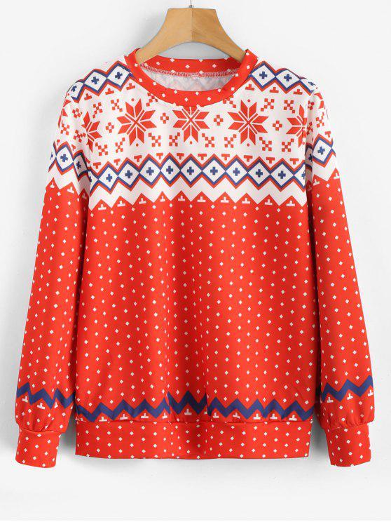 Camisola do Natal do floco de neve - Multi M