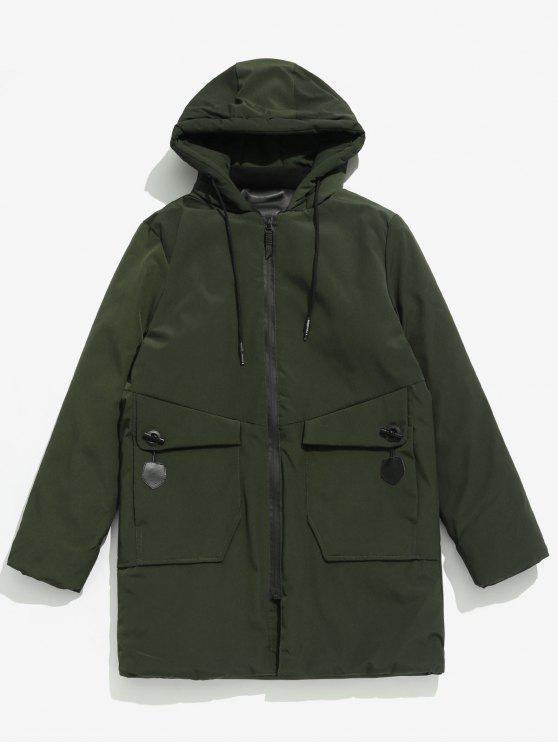 Solider Taschenmantel - Armeegrün XS