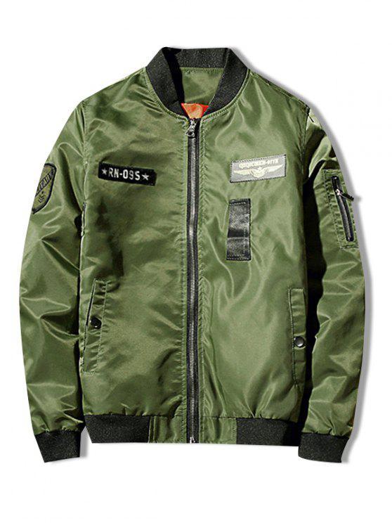 Zip Fly Shark chaqueta estampada - Verde de Helecho M