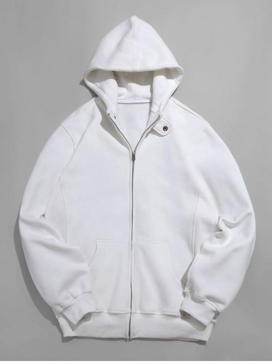 Robuste Full Zip Pocket-Fleecejacke - Weiß M