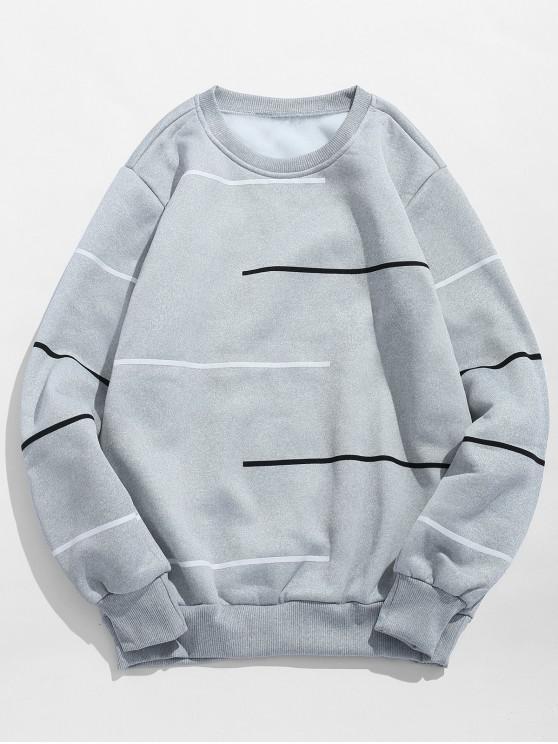 Felpa Pullover Stampata Con Maniche Lunghe - Nuvola Grigia M