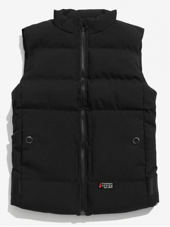 Chaleco Puffer Sólido - Negro S