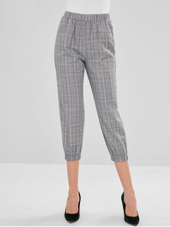latest ZAFUL Plaid Jogger Pants - MULTI M
