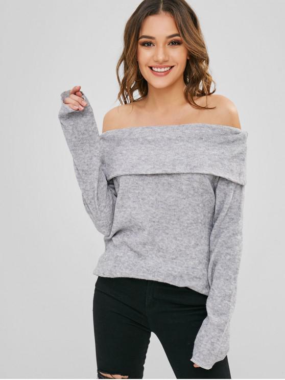 Открытые плечи Трикотаж - Облачный серый XL