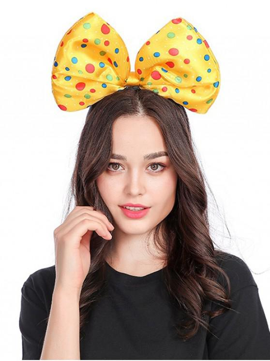 sale Polka Dot Bow Shape Hair Accessories - YELLOW