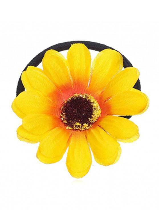 buy Sun Floral Elastic Hair Band - YELLOW
