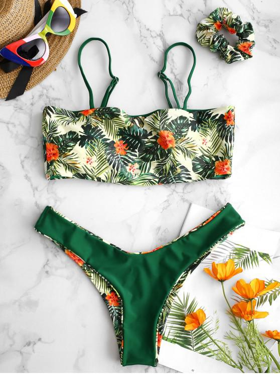 ZAFUL Reversibele Blumenblätte-Bikini-Set Mit Haarband - Multi-A M