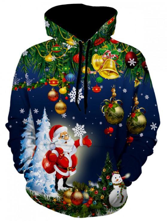 Moletomdo Natal de Jingle Bells daÁrvorede Natal de Santa - Azul Marinho L