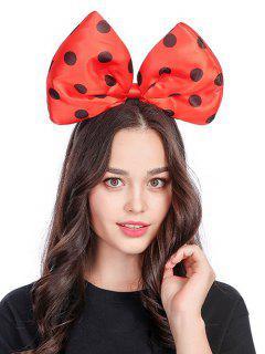 Polka Dot Bow Shape Hair Accessories - Red
