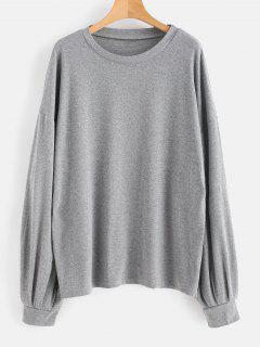 Marled Oversized Sweatshirt - Gray M