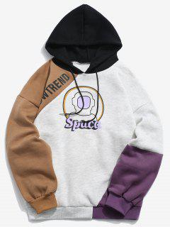 Sudadera Con Capucha Astronaut Graphic Color Block Fleece - Multicolor-b L