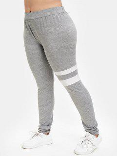 Marled Plus Size Sport Leggings - Gray Goose 4x